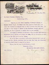 1900 Columbus - Central Ohio Paper Co - Vintage Letter Head Rare