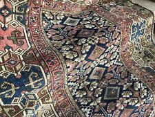 Auth: 19th C Antique Kurdish Rug Collectible Rare Organic ALL WOOL Beauty 4x7 NR