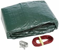 Gli Aquacover Estate Plus Bound 16 by 32-Feet Oval Solid Winter Cover System for