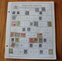 B05 Lot of Netherlands Stamps on 10 Minkus binder Pages