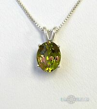 925 Sterling Silver pendant created 3 ct. Diaspore Chain Necklace Jewelry. @