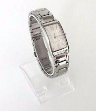 Esprit Damen Uhr Casey silber weiß römisch Edelstahl Rechteck ES107112002