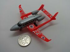Matchbox Sky Busters #83 Silver & Red Twin Boom Jet AirPlane - Loose & Nice