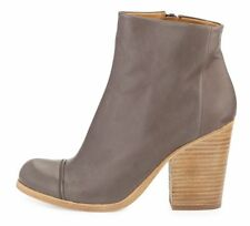 COCLICO SHOES CELIE ANKLE BOOTS GRAY LEATHER CAP TOE BOOTIES $435 9.5 40