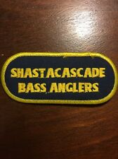 SHASTACASCADE BASS ANGLERS SEW ON FISHING PATCH