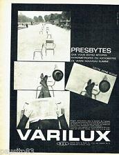 PUBLICITE ADVERTISING 056  1962  les verres Varilux