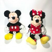 Disney World GENUINE Mickey And Minnie Mouse Plush Figures WITH TAGS