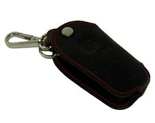 Auto Car Keychain Keyfob Keyring PU Leather Key Case Holder Black For Volvo