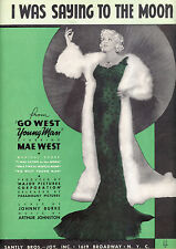 "GO WEST YOUNG MAN Sheet Music ""I Was Saying To The Moon"" Mae West"