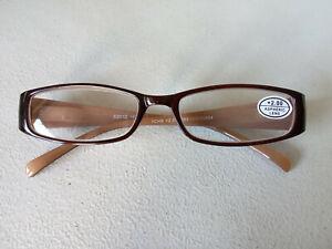 CE +2.00 HIGH QUALITY DESIGNER brown MULTI Womens Reading glasses