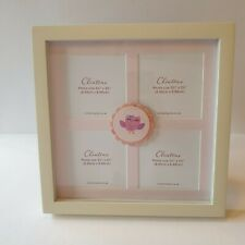 Clintons Baby Girl Pink White Owl Square Photoframe New With Tags