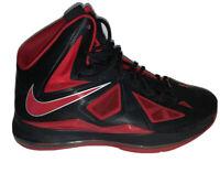 Nike Lebron X 10 Black/University Red 541100 006 Heat Away SZ 13 BRED
