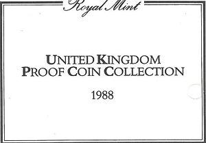1988 Grande-Bretagne 7 Pièce de Monnaie 3 Page c. O. A.Document Kit