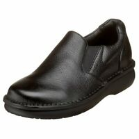 Propet M4077-BLK: Men's Galway Walker Black Grain Slip-on Shoe