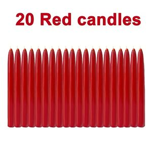 Red Christmas Tree 20 Candle Chime Pyramid Carousel 4.5 Inch Festival Party New