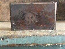 Vintage Copper Newspaper Ink Plate Type On Wood Block ,  Dean Alfred University