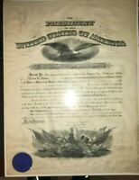 President William H. Taft Signed Military Appointment LetterJuly 9, 1909