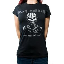 Womens Iron Maiden Diamante Souls Tour Skinny T Shirt (black) - Medium - Book