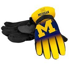 Michigan Wolverines Gloves Big Logo Gradient Insulated Winter Unisex S/M L/XL
