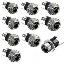 12PCS DC Power Supply Jack Socket Female Panel Mount Connector 3-Pin 5.5 x 2.1mm