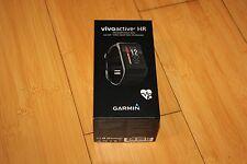 NEW! Garmin VivoActive HR Heart Rate Monitor Black Regular 010-01605-03 Watch