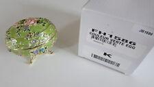 Design Toscano Fh1586 Enameled Egg Jewelry Holder Couleur Verte