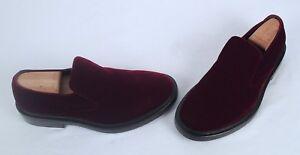 NEW!! Balenciaga Velvet Smoking Loafer- Bordeaux - Size 8 US/ $40 EU  $750 (C14)