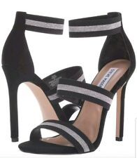 Steve Madden Carina High Heel Sandal sz 8.5 BNIB BLACK and SILVER