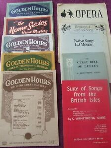 Collection of vintage Piano score music books.