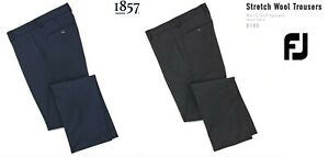 1857 Footjoy Wool Trouser Heather Grey - Navy Checkered $185 (Pick Size) 52% OFF