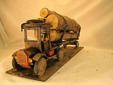 G scale Logging Truck - directly out of the woods - custom weathered