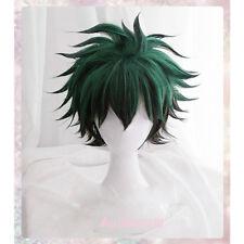 My Hero Academia Izuku Midoriya Wig Green And Black Cosplay Wig +Track + Wig Cap