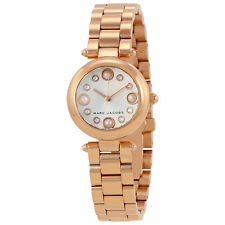 Marc Jacobs Dotty White Sunray Dial Ladies Rose Gold Watch MJ3520