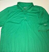 Nike Golf Tour Performance Mens Sz Medium Dri-Fit Short Sleeve Green Polo Shirt
