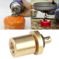 Gas Refill Adapter for Outdoor Camping Hiking Stove Tank Inflate Butane Canister