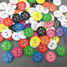 DIY 100PCS Christmas Snowflake pattern Resin Buttons scrapbooking crafts 15mm
