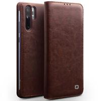 QIALINO Echt Leder Flip Slim Case Cover Schutz Hülle Für Huawei P30 P20 Pro P10+
