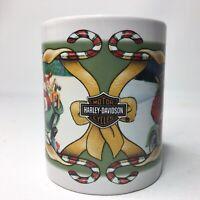 Harley Davidson Santa Claus Christmas Coffee Tea Mug 1997 Vintage