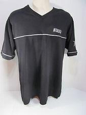 RARE Metallica Giant V Neck Embroidered Polo T Shirt Black Size Large NICE!!