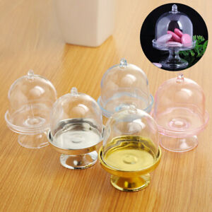 1Pc Transparent Cake Stand Candy Dessert Display Box Tray Wedding Favours Supply
