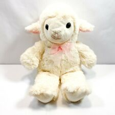 "KellyToy Soft Fleece Fluffy White Lamb/Sheep Stuffed Animal 15"" Easter Plush"