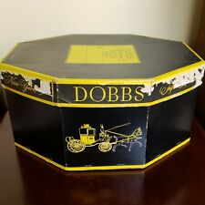 Dobbs Fifth Avenue New York Octagon Hat Box Original Form & Ring Black Yellow