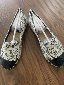 New Tory Burch Espadrille Shoes Flats Size 6