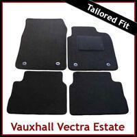 VAUXHALL VECTRA C Estate 2002-2008 Tailored Carpet Car Floor Mats BLACK