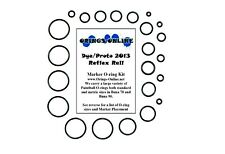 Dye / Proto 2013 Reflex Rail Paintball Marker O-ring Oring Kit x 4 rebuilds