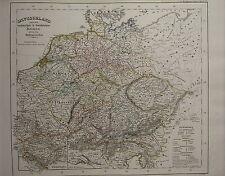 1846 SPRUNER ANTIQUE HISTORICAL MAP ~ GERMANY UNDER SAXON FRANCONIAN EMPERORS