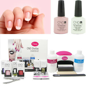 CND Shellac French Manicure Gel Nail Deluxe Kit Classy 48W PRO LED Lamp FREE P&P