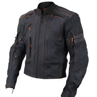 Mens Retro Motorbike Leather Jacket Motorcycle Sports Men Racing Leather Jacket