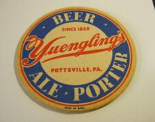 "(VINTAGE) YUENGLING BEER ALE PORTER 4"" INCH COASTER POTTSVILLE PA"