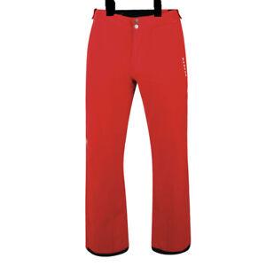 Mens Dare2b CERTIFY SEVILLE RED Stretch Ski Pants S - XL SHORT LEG TROUSERS